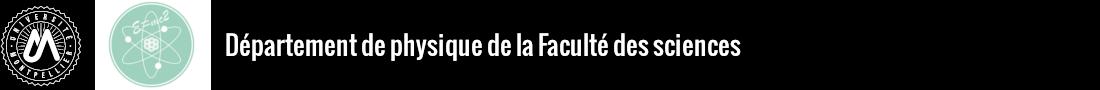 Département de physique de la Faculté des sciences Logo
